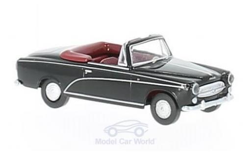 Peugeot 403 1/87 Brekina Drummer Cabrio de Luxe noire miniature