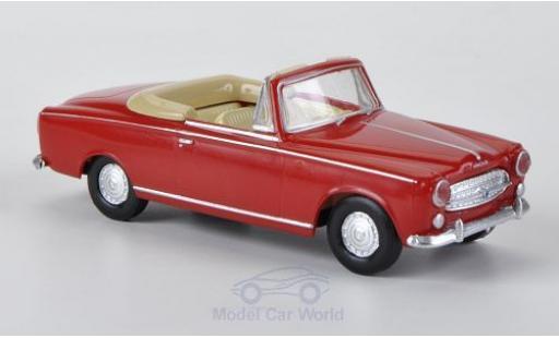 Peugeot 403 1/87 Brekina Drummer rouge miniature