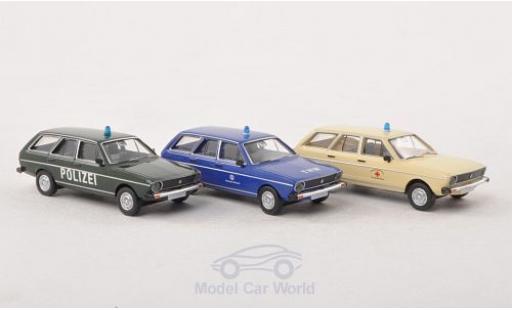 Volkswagen Passat 1/87 Brekina Variant 3er-Set Blaulicht: Polizei DRK THW miniature