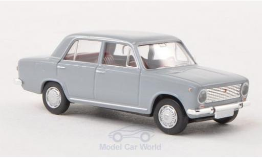 Fiat 124 1/87 Brekina grey diecast model cars