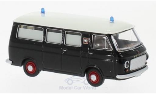 Fiat 238 1/87 Brekina noire/blanche Falck Krankenwagen miniature