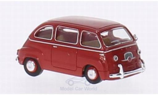 Fiat Multipla 1/87 Brekina red diecast model cars