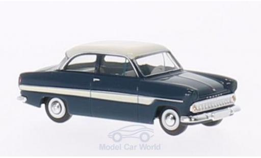 Ford 12M 1/87 Brekina 12m bleue/blanche miniature