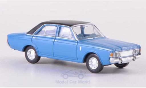 Ford 20M 1/87 Brekina 20m (P7b) bleue/matt-noire miniature