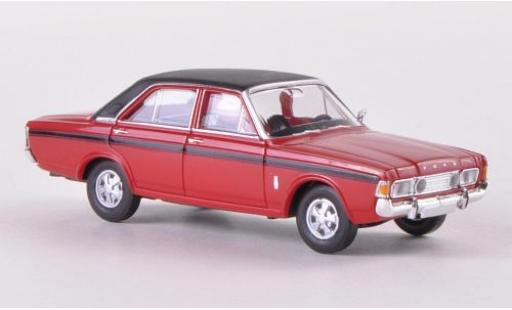Ford 20M 1/87 Brekina 20m RS (P7b) red/matt-black diecast model cars