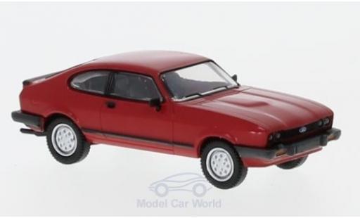 Ford Capri 1/87 Brekina MKIII rouge 1981 miniature