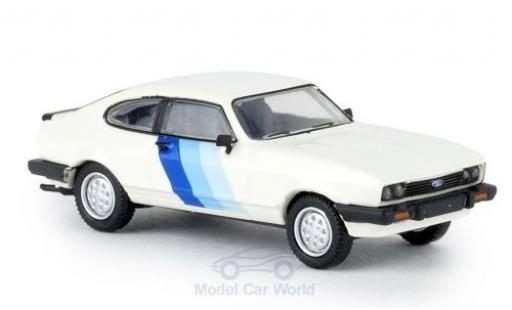 Ford Capri 1/87 Brekina MKIII RS white/Dekor 1981 diecast model cars