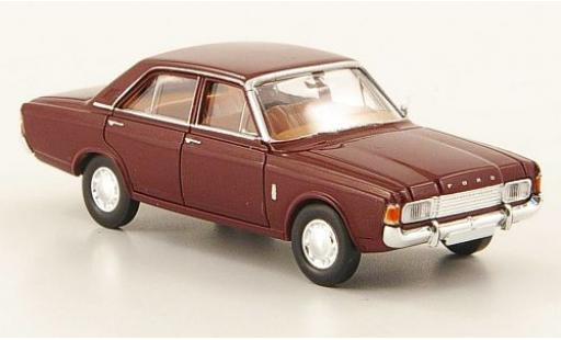 Ford Taunus 1/87 Brekina 17M (P7b) red 1969 diecast model cars
