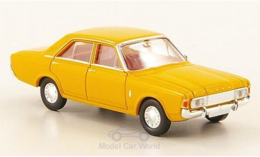 Ford Taunus 1/87 Brekina 17M (P7b) yellow 1969 diecast model cars