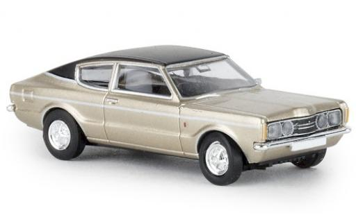 Ford Taunus 1/87 Brekina Coupe GXL gold/black 1972 diecast model cars