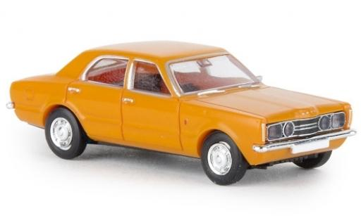 Ford Taunus 1/87 Brekina GT yellow 1972 diecast model cars