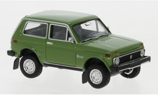 Lada Niva 1/87 Brekina green diecast model cars