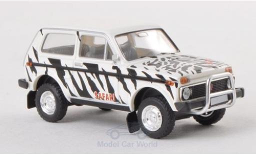 Lada Niva 1/87 Brekina noire/blanche Safari miniature