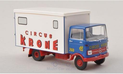 Mercedes LP 608 1/87 Brekina bleue/blanche Circus Krone miniature