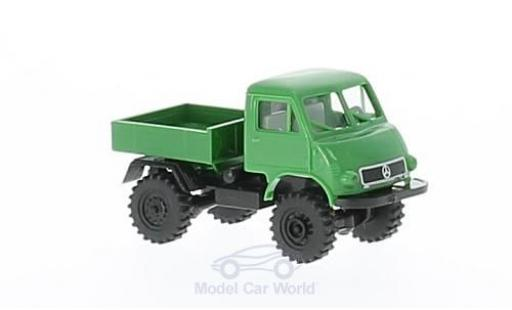 Mercedes Unimog 1/87 Brekina 402 green/black Pritsche diecast model cars