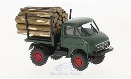 Mercedes Unimog 1/87 Brekina 411 mit Holzladung miniatura