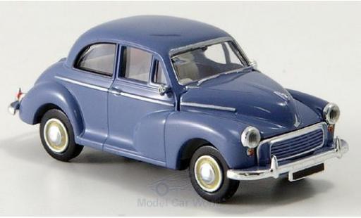 Morris Minor 1/87 Brekina bleue RHD miniature