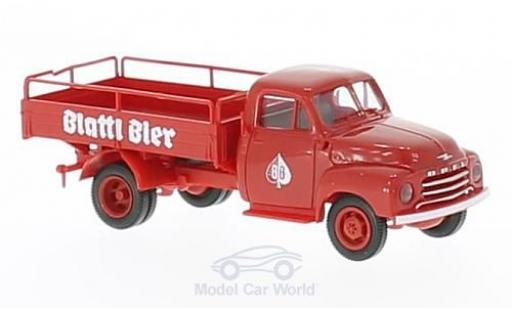 Opel Blitz 1/87 Brekina Blattl Bier (A) Bierpritsche miniature