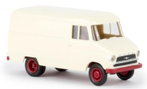 Opel Blitz 1/87 Brekina Kasten A beige 1959 coche miniatura