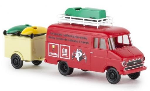 Opel Blitz 1/87 Brekina Kasten A Schweizer Seifenkisten Derby 1966 mit Anh. und Seifenkisten miniatura