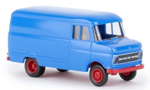 Opel Blitz 1/87 Brekina Kasten B blue 1966 diecast model cars