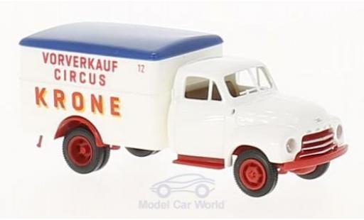 Opel Blitz 1/87 Brekina Koffer Circus Krone Vorverkauf miniature