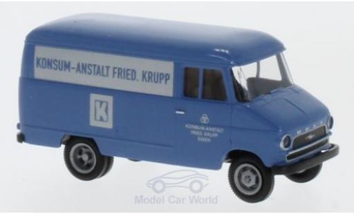 Opel Blitz 1/87 Brekina Konsum-Anstalt Friedrich Krupp Kasten miniature