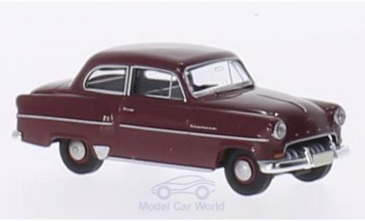 Opel Olympia 1/87 Brekina Limousine rouge miniature