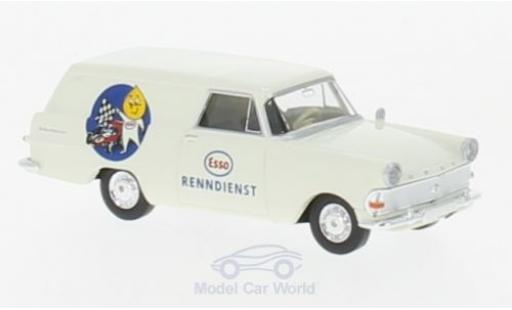 Opel Rekord 1/87 Brekina P2 Kasten Esso Renndienst miniature