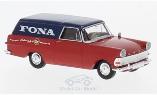 Opel Rekord 1/87 Brekina P2 Kasten Fona (DK) miniature