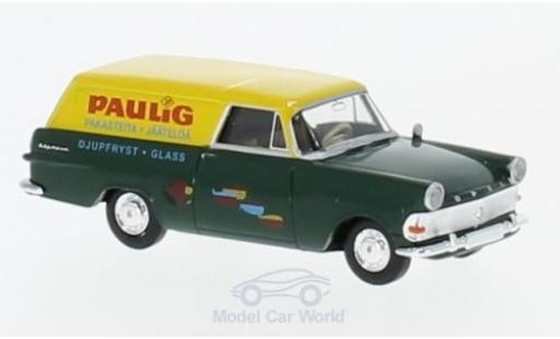 Opel Rekord 1/87 Brekina P2 Kasten Paulig (FIN) miniature