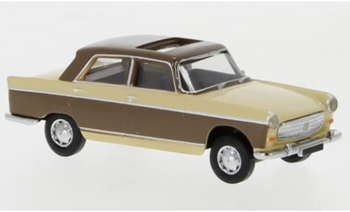 Peugeot 404 1/87 Brekina beige/brown 1961 toit ouvrant ouvert diecast model cars