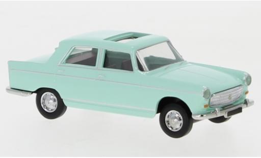 Peugeot 404 1/87 Brekina green 1961 toit ouvrant ouvert diecast model cars