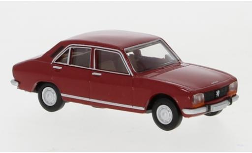Peugeot 504 1/87 Brekina red 1961 diecast model cars