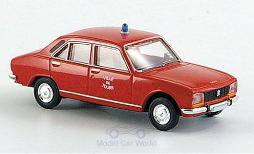 Peugeot 504 1/87 Brekina Limousine Ville de Tours Feuerwehr (F) miniature