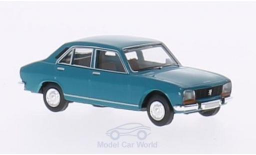 Peugeot 504 1/87 Brekina turquoise miniature