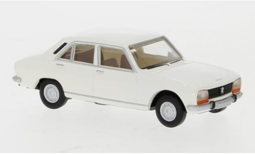 Peugeot 504 1/87 Brekina white 1961 diecast model cars