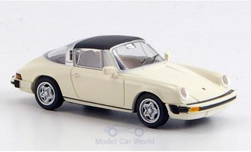 Porsche 911 1/87 Brekina G-Modell Targa abnehmbares Dach blanche miniature