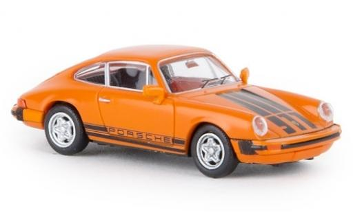 Porsche 930 1/87 Brekina 911 G orange 1976 TD miniature