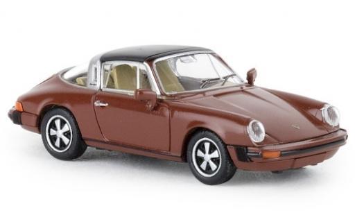 Porsche 911 1/87 Brekina G targa marron 1976 TD miniatura