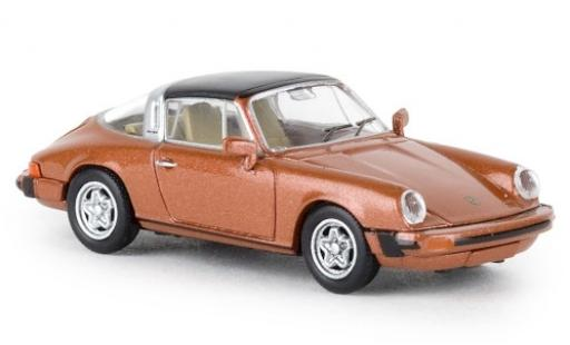 Porsche 930 Targa 1/87 Brekina 911 G targa metallise orange 1976 TD miniature