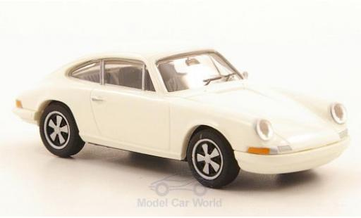 Porsche 911 1/87 Brekina R white diecast model cars