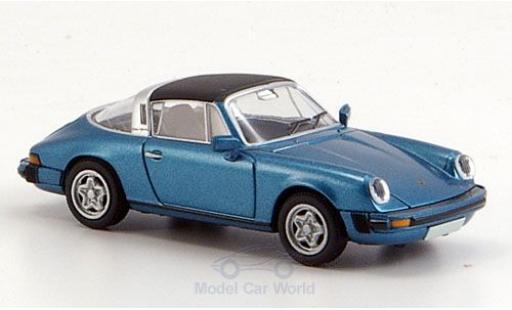 Porsche 911 1/87 Brekina Targa (G-Modell) metallic blue Dach abnehmbar diecast
