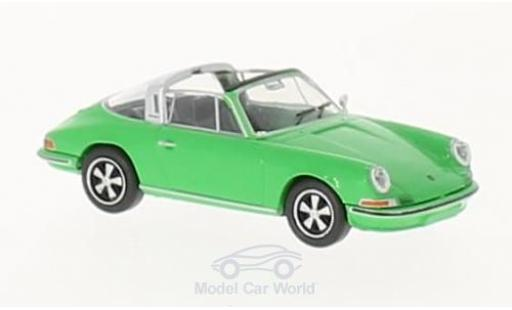 Porsche 911 Targa 1/87 Brekina green diecast model cars
