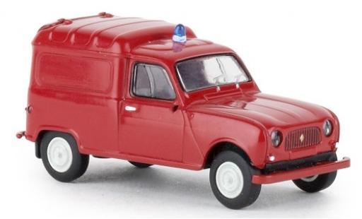 Renault 4 1/87 Brekina R Fourgonnette Feuerwehr 1961 miniatura
