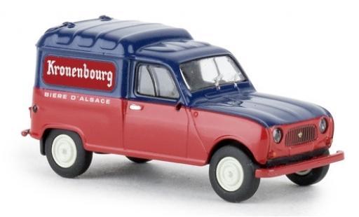 Renault 4 1/87 Brekina R Fourgonnette Kronenbourg 1961 miniatura