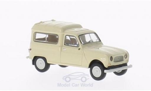Renault 4 1/87 Brekina R Fourgonnette mit Seitenfenstern beige miniature