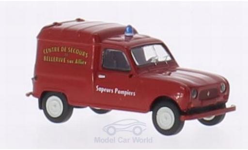 Renault 4 1/87 Brekina R Fourgonnette Sapeurs Pompiers Bellrive miniatura