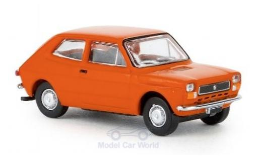 Fiat 127 1/87 Brekina orange 1971 miniature