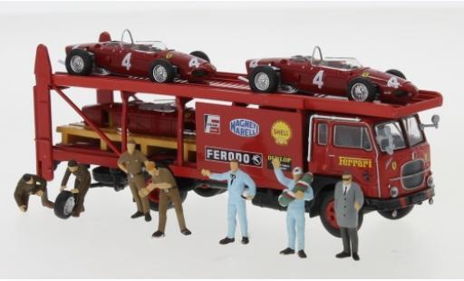 Fiat 642 1/87 Brekina Renntransporter-Set Ferrari 1962 avec 2 x F 156 Ersatzkarosse et 7 exkl. figurines coche miniatura